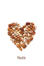 Nuts In Shape Of Heart