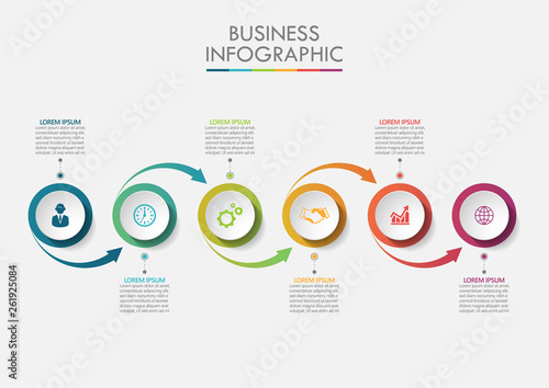 Fototapeta Business data visualization. timeline infographic icons designed for abstract background template milestone element modern diagram process technology digital marketing data presentation chart Vector obraz