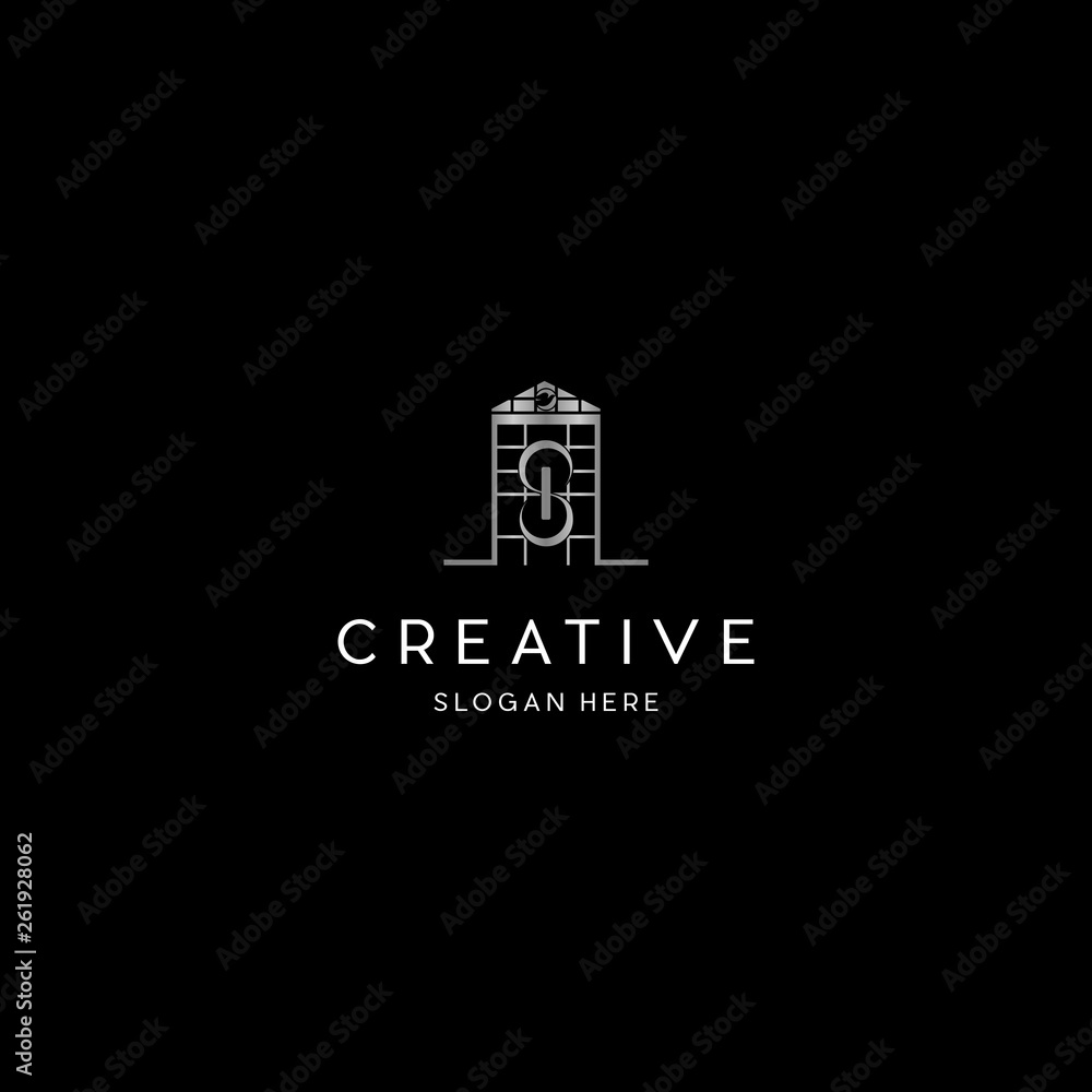 Fototapety, obrazy: Letter S In Home Church Creative Business Logo