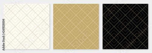 Fototapeten Künstlich Background pattern seamless geometric abstract gold luxury color vector.