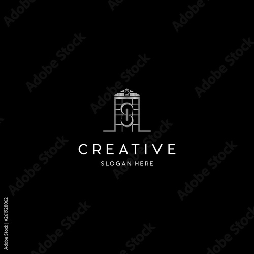 Obraz na plátně  Letter S In Home Church Creative Business Logo
