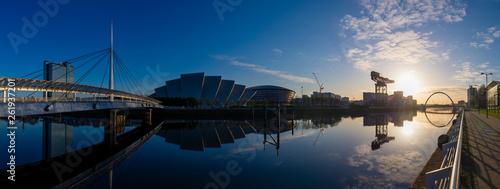 Fotografie, Obraz  River Clyde Sunrise Panorama