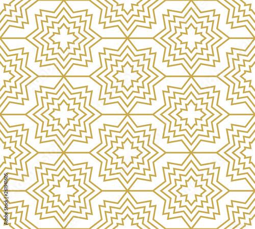 gwiazdy-i-krzyze-w-zlotym-kolorze-bezszwowe-wektor-geometryczny-wzor-w-stylu-orientalnym