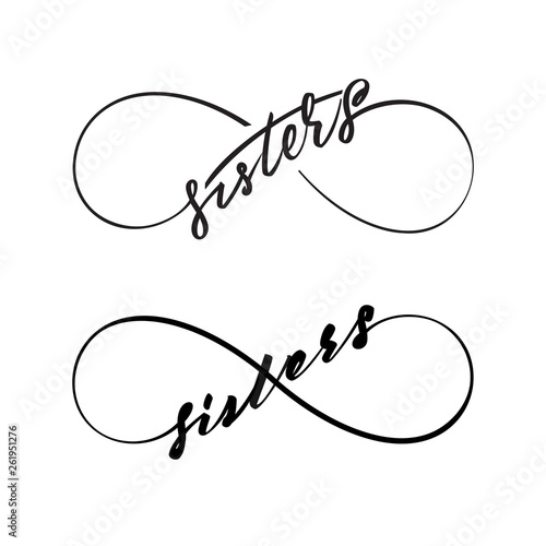Sisters infinity symbols Canvas-taulu