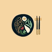 Chicken Ramen Illustration