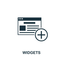 Widgets Icon. Creative Element Design From Content Icons Collection. Pixel Perfect Widgets Icon For Web Design, Apps, Software, Print Usage