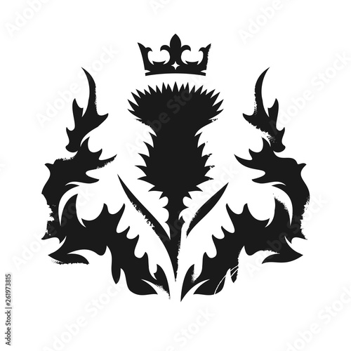 Carta da parati Scottish thistle emblem