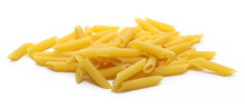 Penne Rigate Pasta Pile Isolat...