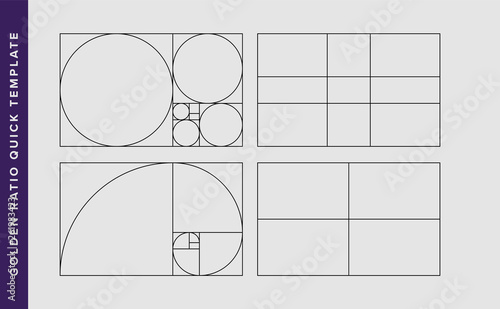 Cuadros en Lienzo Golden Ratio Vector Design Template