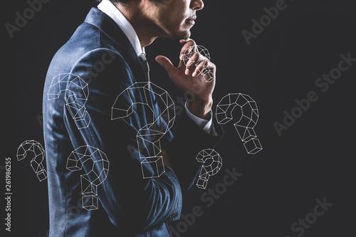 Fotografie, Obraz  ビジネスの疑問