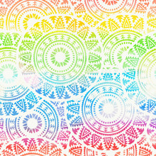 Abstract Boho Watercolor Rainbow Seamless Background.