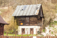 Old Abandoned Wooden House. Th...