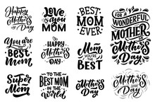 Set Of Mother's Day Lettering ...