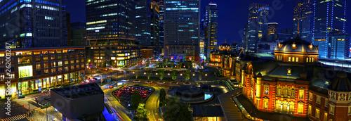 【東京の夜景】夜の東京駅 Fototapeta