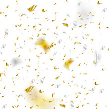 Golden And Silver Glitter Confetti Abstract Deluxe Background