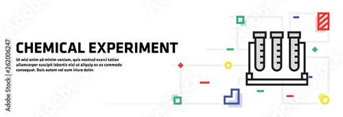 Fotografia  Chemical Experiment Banner Concept
