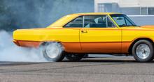 Race Car Burning Rubber