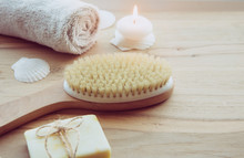 Dry Brushing The Skin In A Pat...