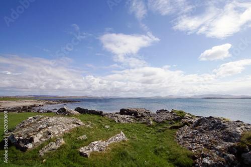 Stampa su Tela Blick auf Loch Indaal von Bruichladdich, Isle of Islay