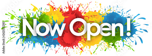 Obraz now open word in splash's background - fototapety do salonu