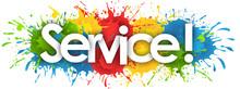 Service Word In Splash's Background
