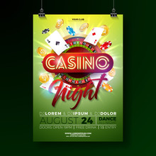 Vector Casino Night Flyer Illu...