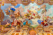 Landmarks Of Austria - Abbey Melk, Fresco Over Ceiling