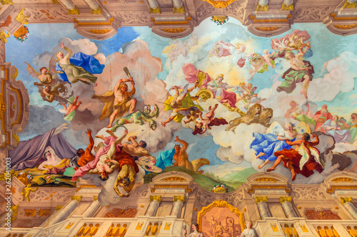 Fototapety na sufit   landmarks-of-austria-abbey-melk-fresco-over-ceiling
