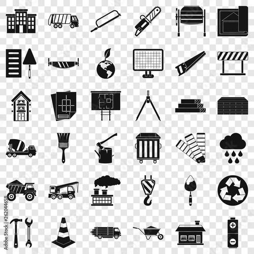 Fotografia, Obraz  Construction material icons set