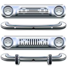 Vector Retro Chrome Bumpers