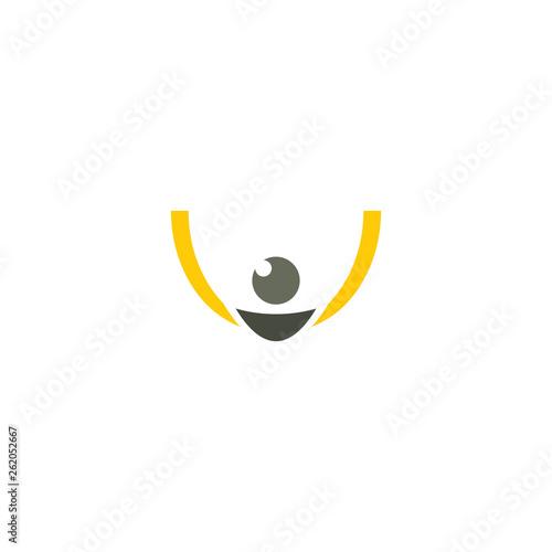Valokuvatapetti slingshot catapult logo vector icon symbol design element