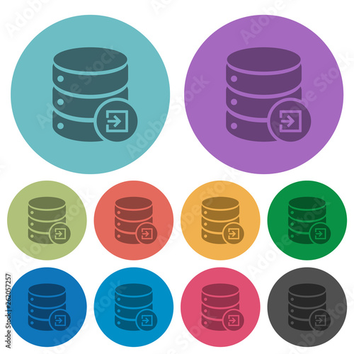 Photo  Import database color darker flat icons