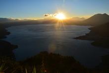 Vue Panoramique Nariz Del Indio Lac Atitlán Guatemala