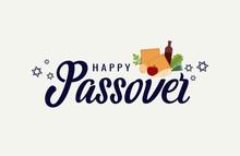 Happy Passover Greeting. Vector Illustration.