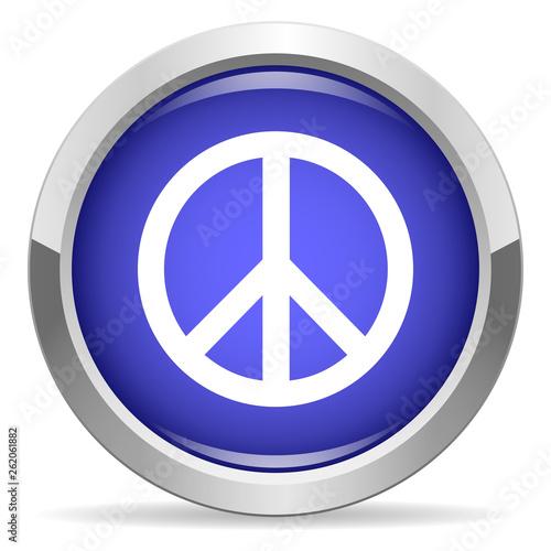 Fotografía  Pacific icon. Round bright blue button.