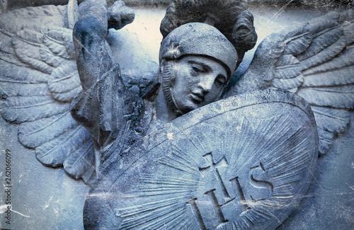Tableau sur Toile Saint Michael struggles with evil