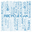 Recycle Can word cloud.
