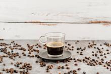 Glass Of Black Coffee