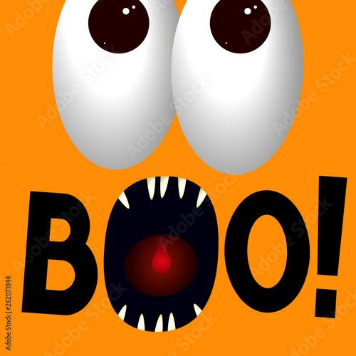 Photo  Boo - Halloween poster/ banner