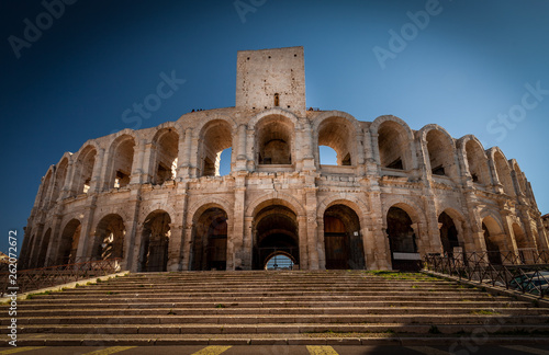 Arles 's arena, south France Canvas Print