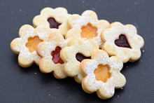 Linzer Cookies Of Three Colors