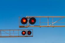 Railroad Red Signal Lights