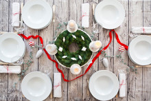 Laid Table With Advent Wreath ...