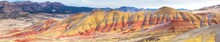 Panorama Of The Painted Hills In The John Day Fossil Beds National Monument In Eastern Oregon.