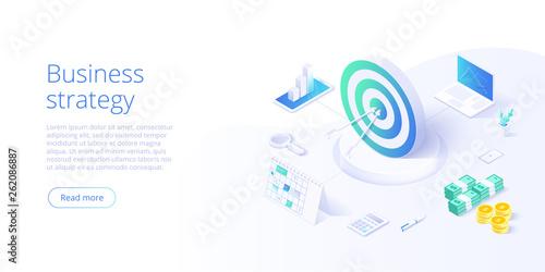 Fotografía  Business strategy isometric vector illustration