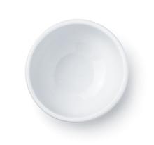 Top View Of White Empty Ceramic Dip Bowl