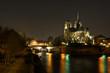 Leinwandbild Motiv Notre Dame la nuit