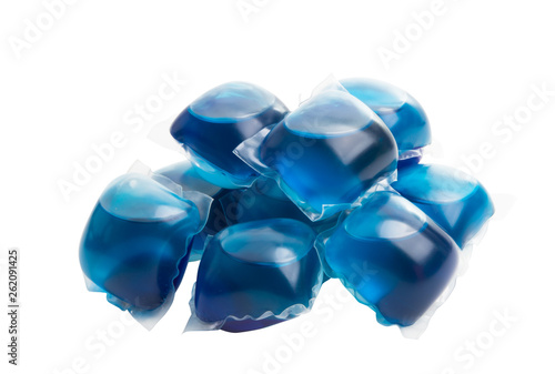 Fotografia capsules for washing isolated