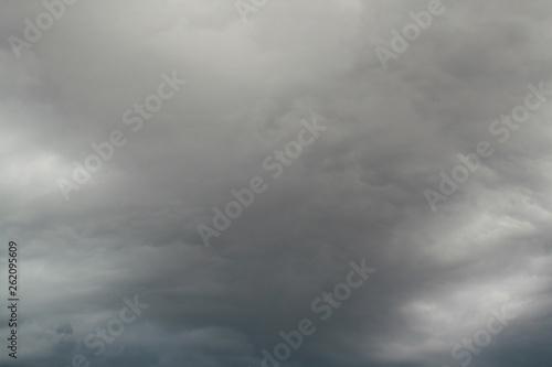 Türaufkleber Darknightsky stormy sky