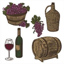 Illustration With Barrel, Grap...